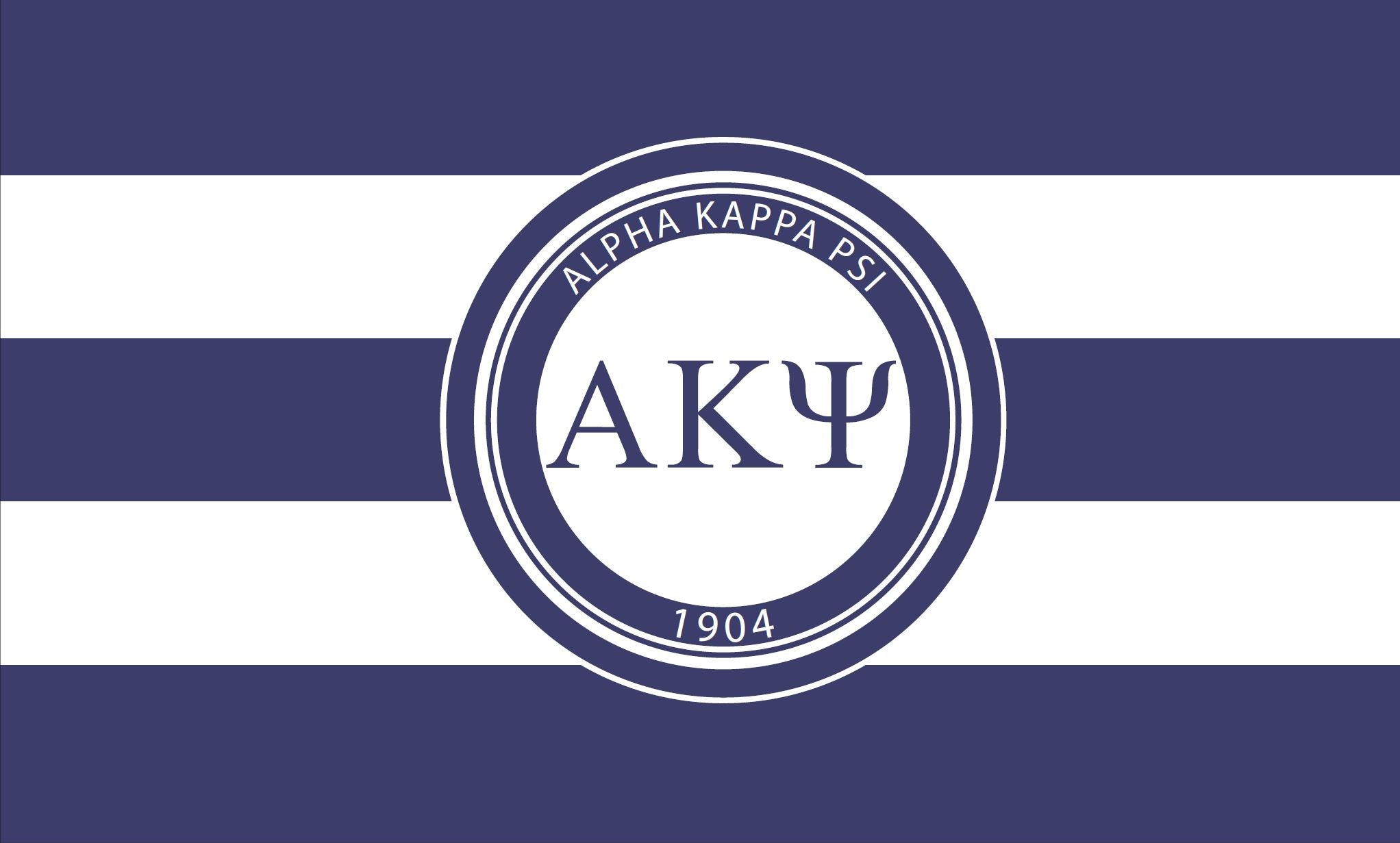 Alpha Kappa Psi Stripes 3' x 5' Flag