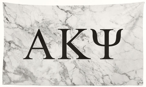 Alpha Kappa Psi - White Marble - 3' x 5' Flag