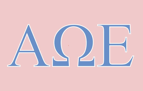 Alpha Omega Epsilon Greek Letters 3' x 5' Flag