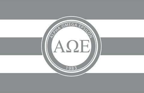 Alpha Omega Epsilon Stripes 3' x 5' Flag