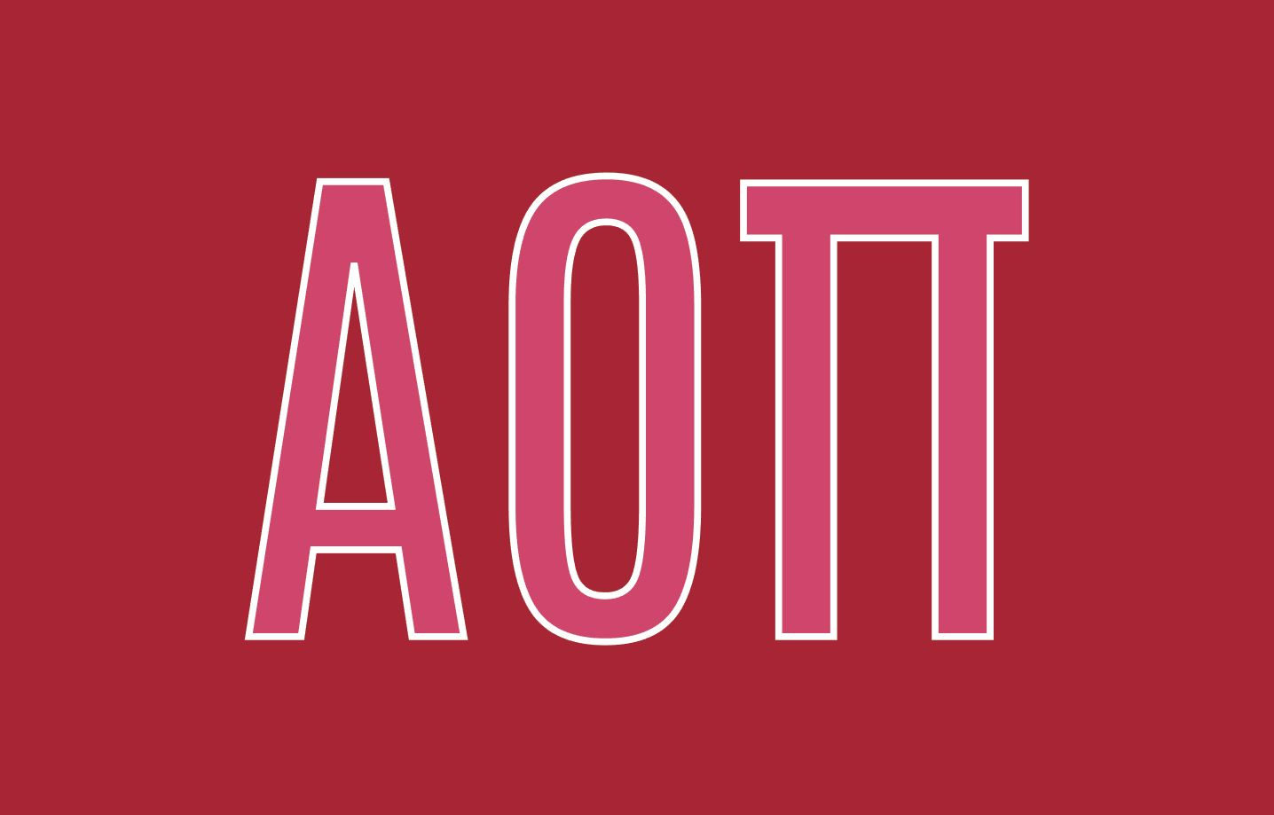 Alpha Omicron Pi Greek Letters 3' x 5' Flag