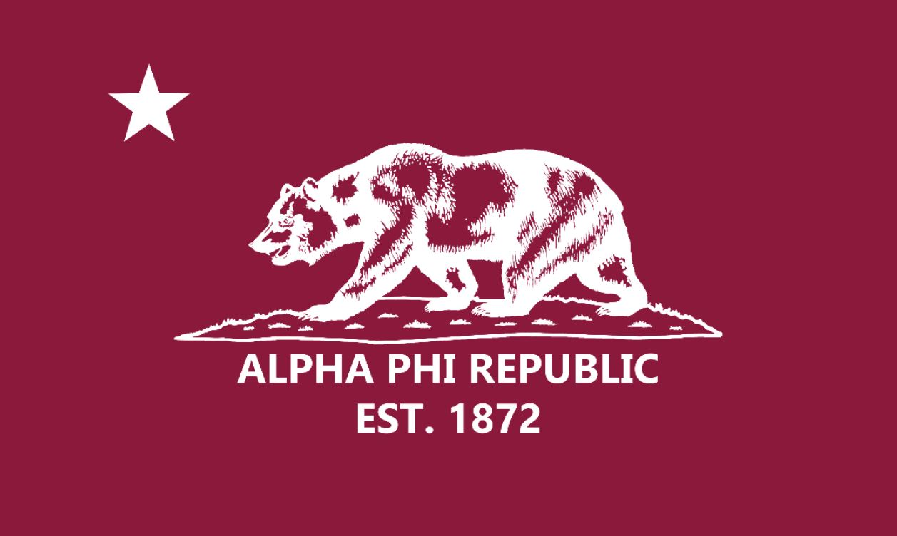 Alpha Phi APR Bordeaux 3' x 5' Flag