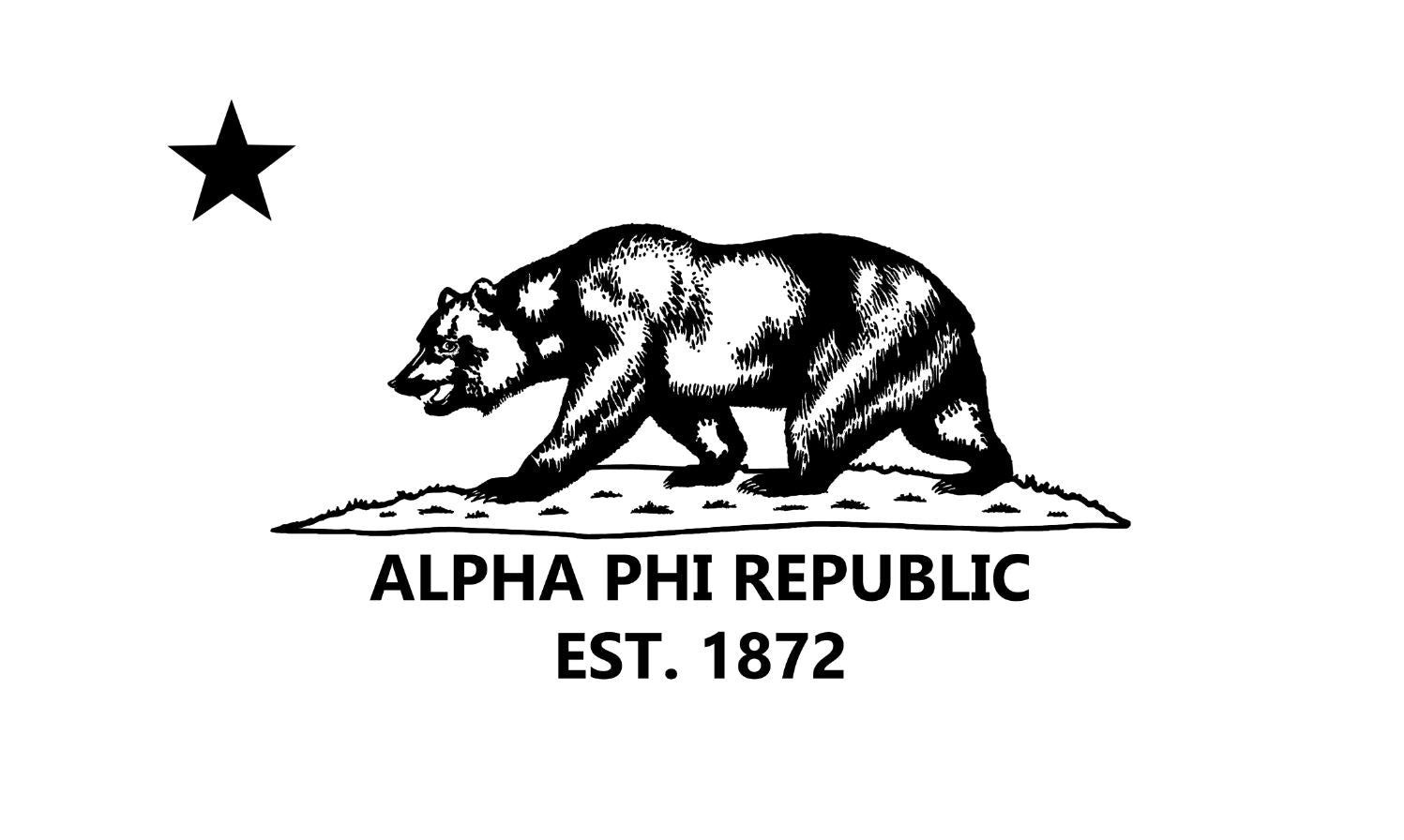 Alpha Phi APR White 3' x 5' Flag