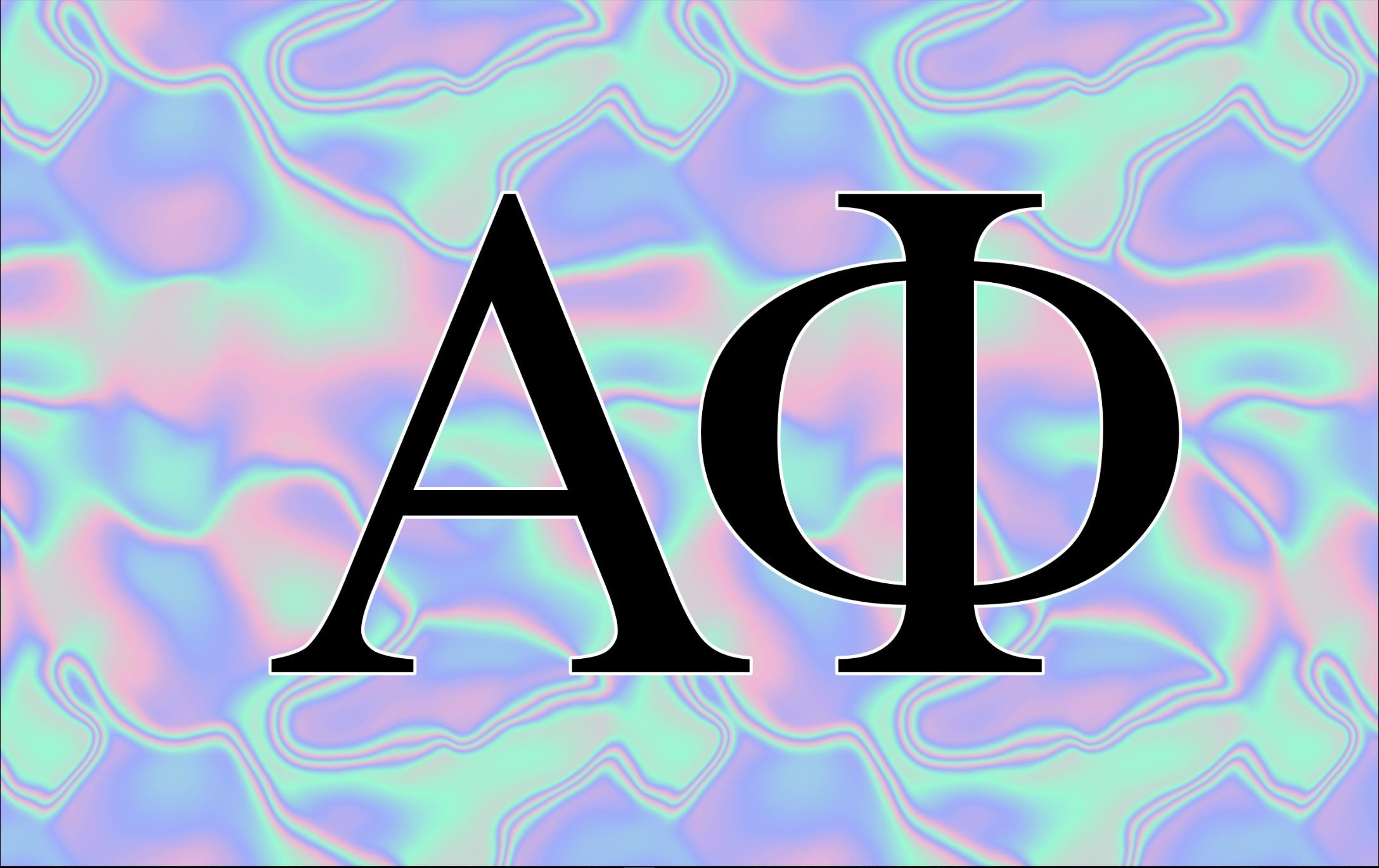 Alpha Phi Black Light 3' x 5' Flag