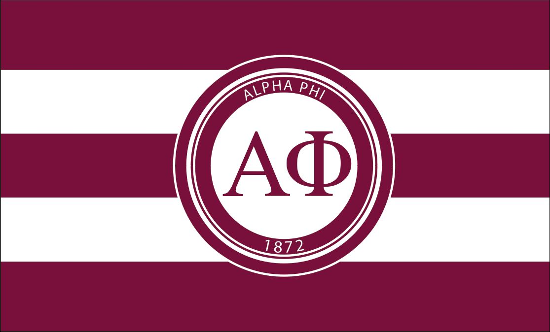 Alpha Phi Bordeaux/Strip 3' x 5' Flag