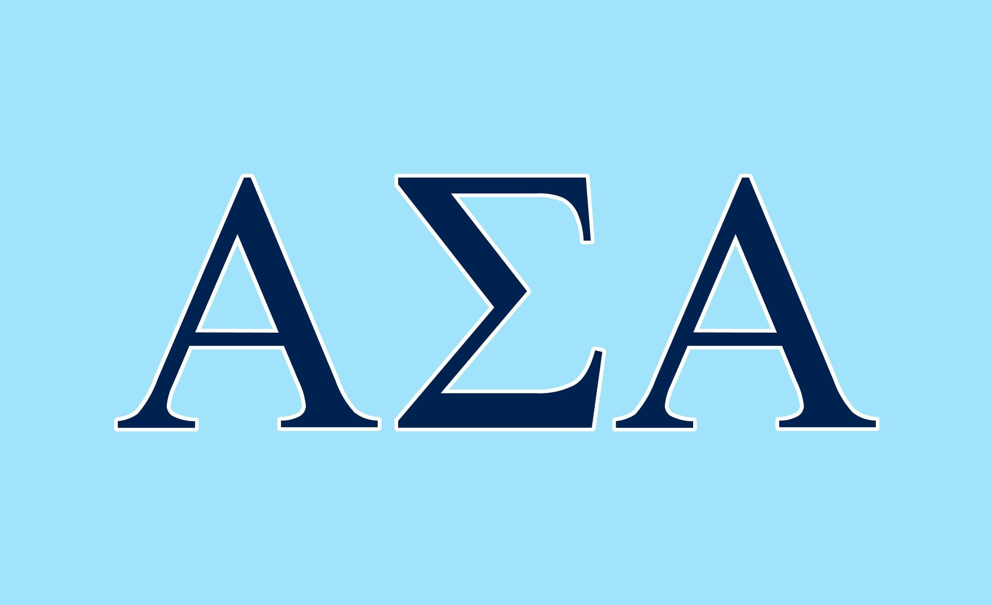 Alpha Sigma Alpha L-Blue/Navy 3' x 5' Flag