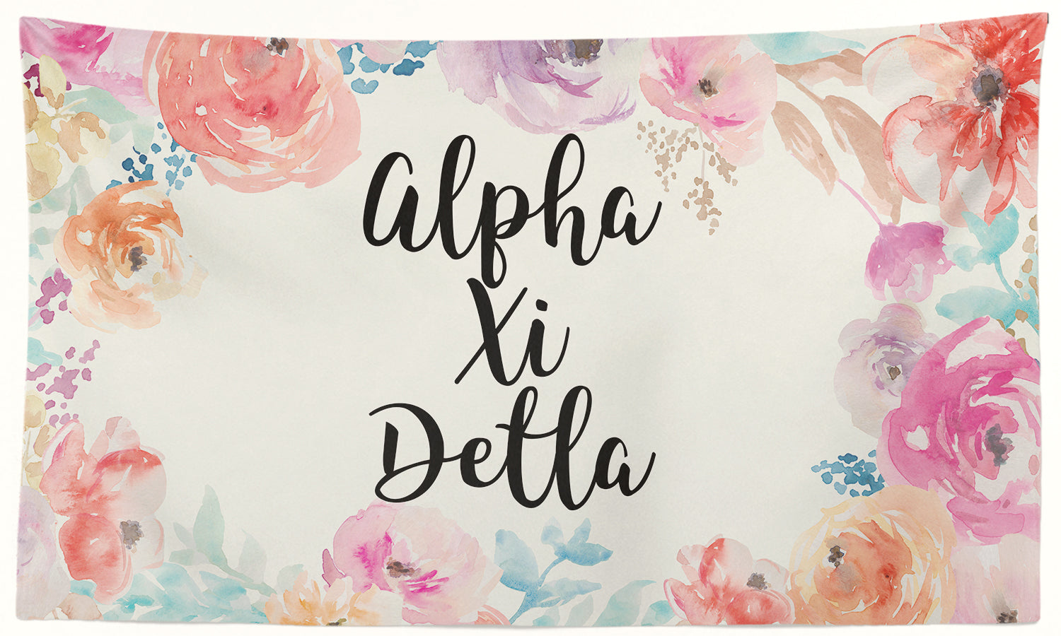 Alpha Xi Delta - New Floral - 3' x 5' Flag