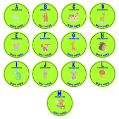 Social Distancing Floor Decal Sticker - School Re-Opening Stickers for Schools - 20 Inch Round