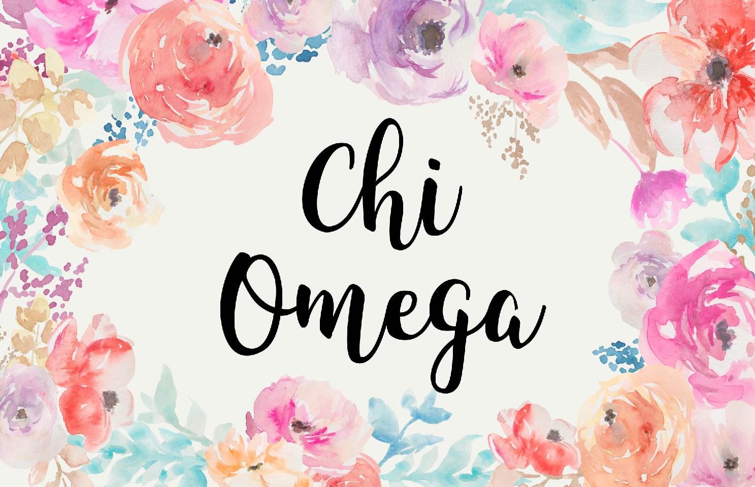 Chi Omega New Floral 3' x 5' Flag