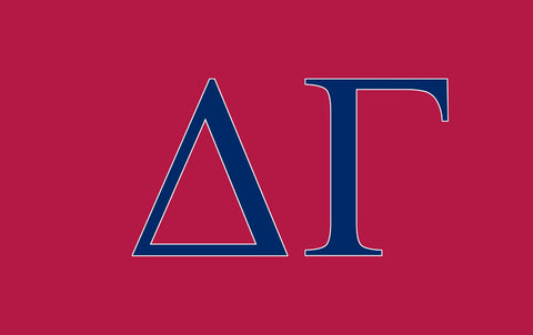 Delta Gamma Greek Letters 3' x 5' Flag