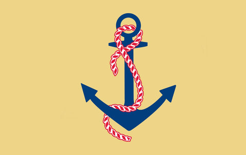 Delta Gamma Anchor 3' x 5' Flag