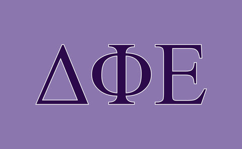 Delta Phi Epsilon Greek Letters 3' x 5' Flag