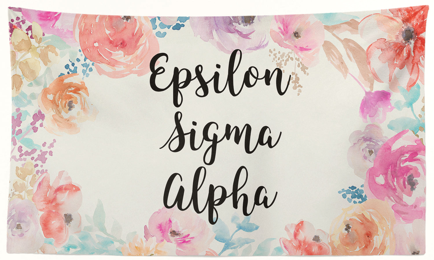 Epsilon Sigma Alpha - New Floral - 3' x 5' Flag