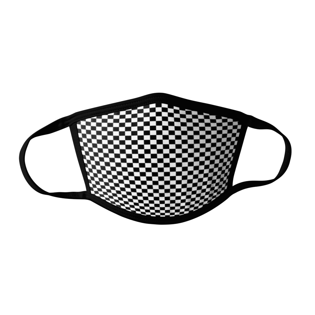 Pro-Graphx Checkers Face Mask - Made in USA 100% Polyester Washable Reusable Unisex Fashion Facemask Comfortable - Adult