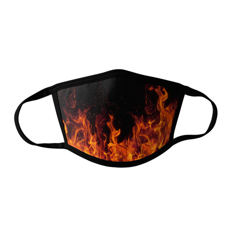 Pro-Graphx Flames Face Mask - Made in USA 100% Polyester Washable Reusable Unisex Fashion Facemask Comfortable - Adult