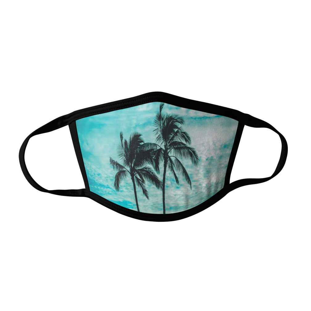 Pro-Graphx Palm Trees Face Mask - Made in USA 100% Polyester Washable Reusable Unisex Fashion Facemask Comfortable - Adult
