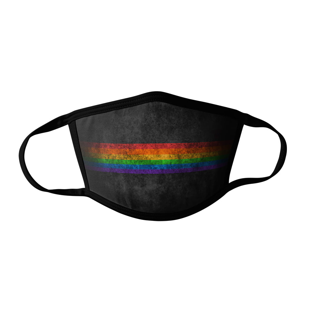 Pro-Graphx Grungy Pride Face Mask - Made in USA 100% Polyester Washable Reusable Unisex Fashion Facemask Comfortable - Adult