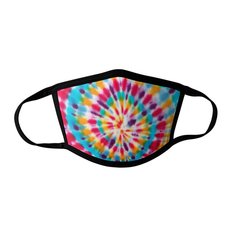 Pro-Graphx Multi Color Tie Dye Face Mask - Made in USA 100% Polyester Washable Reusable Unisex Fashion Facemask Comfortable - Adult