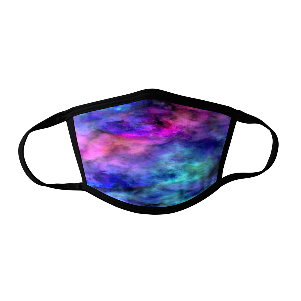 Pro-Graphx Nebula Face Mask - Made in USA 100% Polyester Washable Reusable Unisex Fashion Facemask Comfortable - Adult
