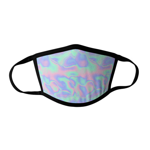 Pro-Graphx BLACK LIGHT Oil Slick Face Mask - Made in USA 100% Polyester Washable Reusable Unisex Fashion Facemask Comfortable - Adult