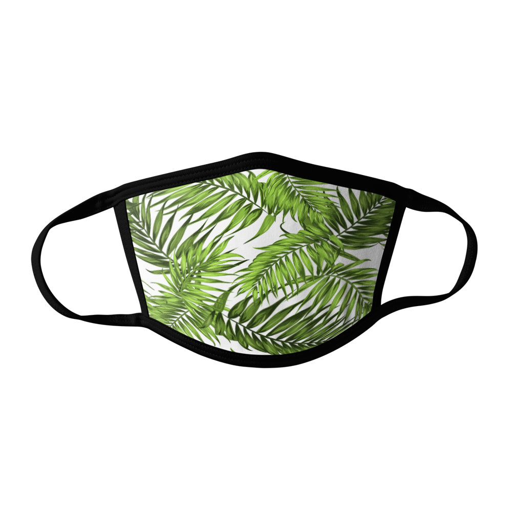 Pro-Graphx Palm Leaves Face Mask - Made in USA 100% Polyester Washable Reusable Unisex Fashion Facemask Comfortable - Adult
