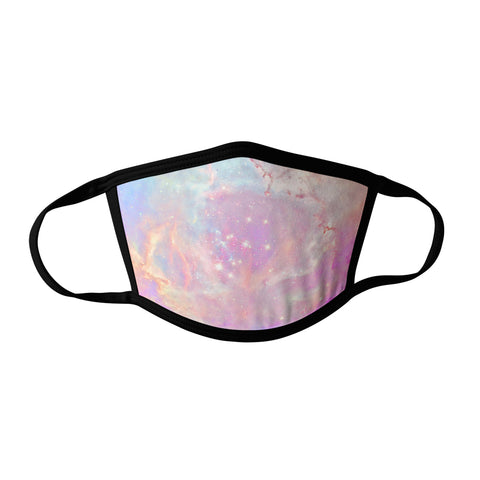 Pro-Graphx Pastel Clouds Face Mask - Made in USA 100% Polyester Washable Reusable Unisex Fashion Facemask Comfortable - Adult