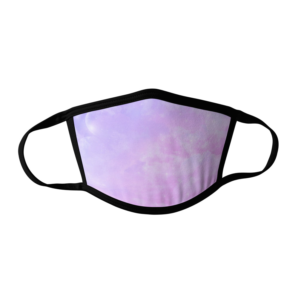 Pro-Graphx Pink Skies Face Mask - Made in USA 100% Polyester Washable Reusable Unisex Fashion Facemask Comfortable - Adult