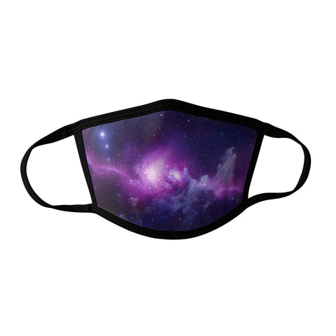 Pro-Graphx Purple Galaxy Face Mask - Made in USA 100% Polyester Washable Reusable Unisex Fashion Facemask Comfortable - Adult
