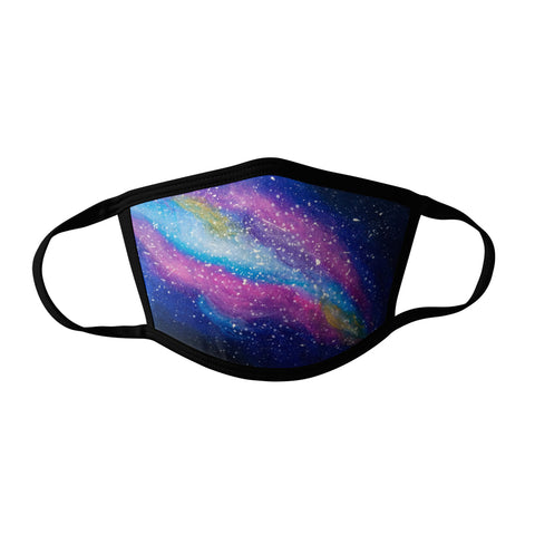 Pro-Graphx Rainbow Galaxy Face Mask - Made in USA 100% Polyester Washable Reusable Unisex Fashion Facemask Comfortable - Adult