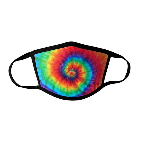 Pro-Graphx Rainbow Tie Dye Face Mask - Made in USA 100% Polyester Washable Reusable Unisex Fashion Facemask Comfortable - Adult
