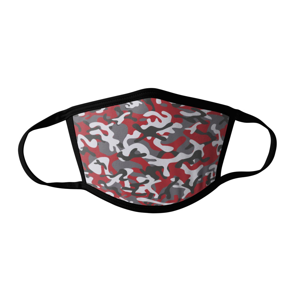 Pro-Graphx Red Camo Face Mask - Made in USA 100% Polyester Washable Reusable Unisex Fashion Facemask Comfortable - Adult