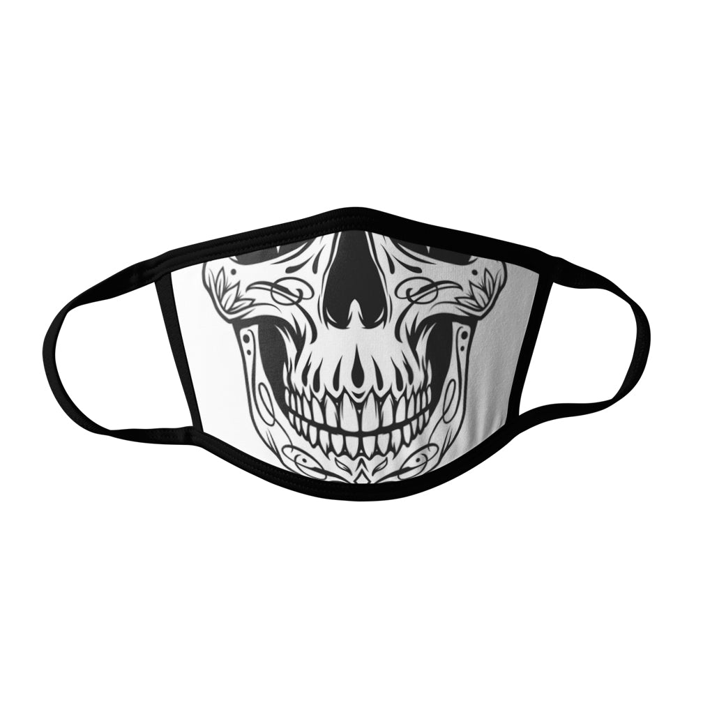 Pro-Graphx Skull Smile Face Mask - Made in USA 100% Polyester Washable Reusable Unisex Fashion Facemask Comfortable - Adult