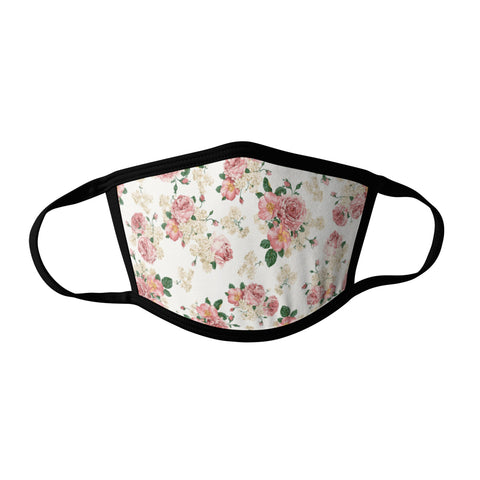 Pro-Graphx Spring Peach Face Mask - Made in USA 100% Polyester Washable Reusable Unisex Fashion Facemask Comfortable - Adult