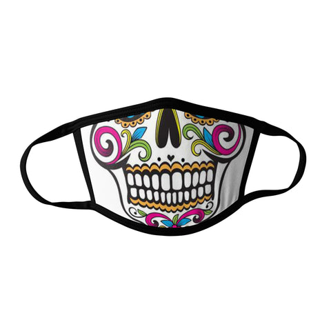 Pro-Graphx Sugar Skull Face Mask - Made in USA 100% Polyester Washable Reusable Unisex Fashion Facemask Comfortable - Adult