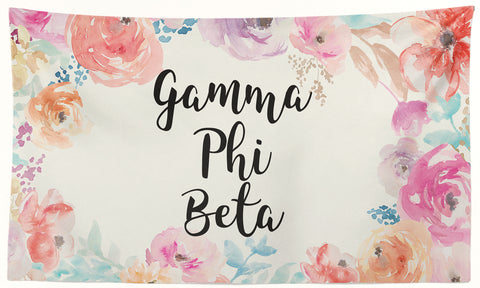 Gamma Phi Beta - New Floral - 3' x 5' Flag