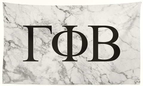 Gamma Phi Beta - White Marble - 3' x 5' Flag