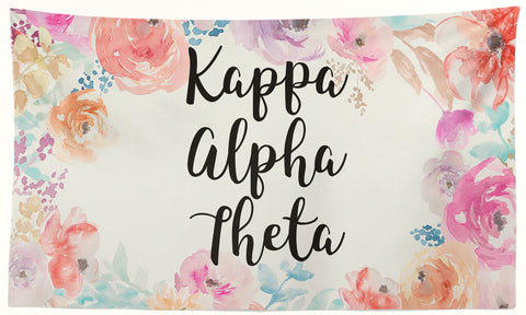 Kappa Alpha Theta - New Floral - 3' x 5' Flag