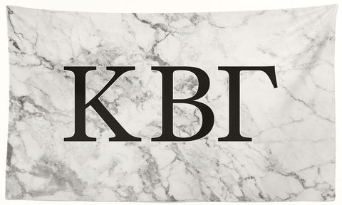 Kappa Beta Gamma- White Marble - 3' x 5' Flag
