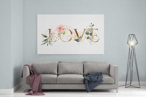 "Love Watercolor - 24"" x 36"" Stretched Canvas"