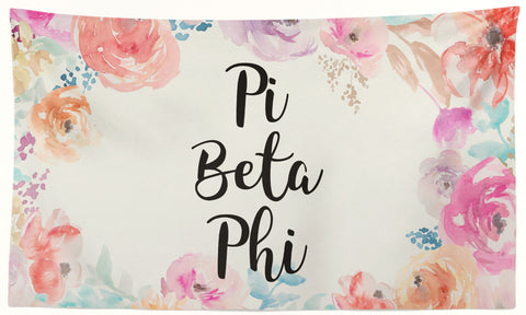 Pi Beta Phi - New Floral - 3' x 5' Flag