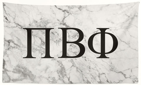 Pi Beta Phi - White Marble - 3' x 5' Flag