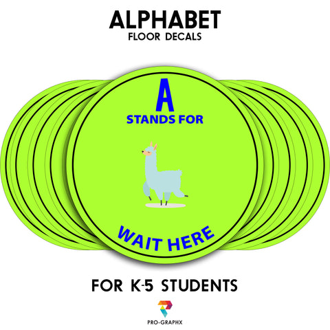 Social Distancing Floor Decal Sticker - School Re-Opening Stop 6 Feet Apart Stand Please Wait Here Sign Distance for Schools - 20 Inch Round
