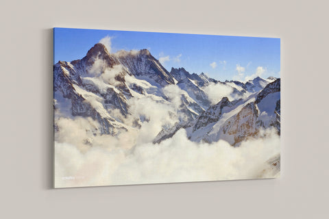 "Snow Mountains - 24"" x 36"" Stretched Canvas"