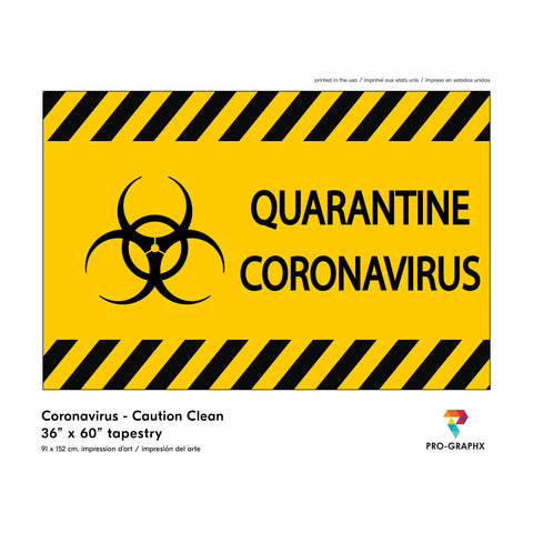 Pro-Graphx Coronavirus Flag COVID-19 Display Warning Quarantine Area Large Tapestry Decorative Banner Outdoor Stop The Spread Fight Against House Porch - 3' x 5'