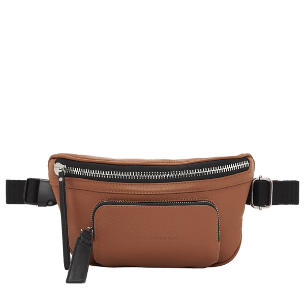 ETTA SLING BELT BAG - WALNUT