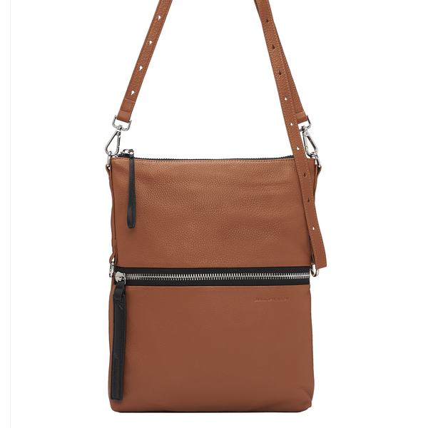 SLOAN FOLDOVER CROSSBODY - WALNUT