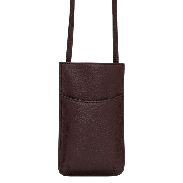 DARBY PHONE SLIP CROSSBODY - CHOCOLATE