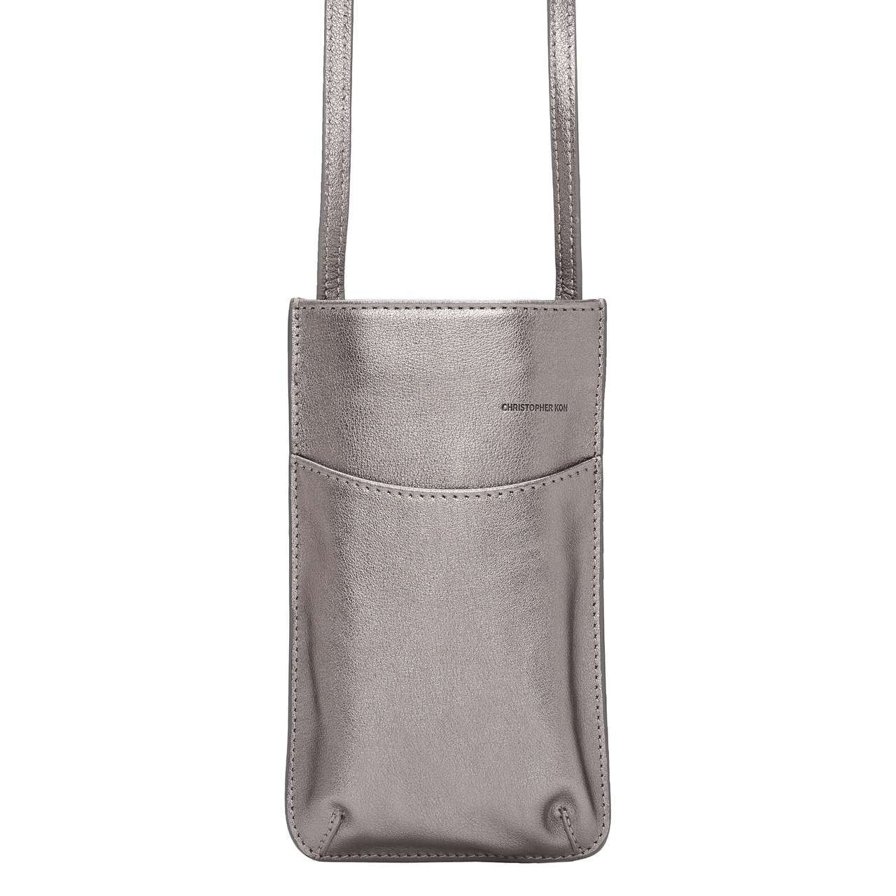 DARBY PHONE SLIP CROSSBODY - PEWTER