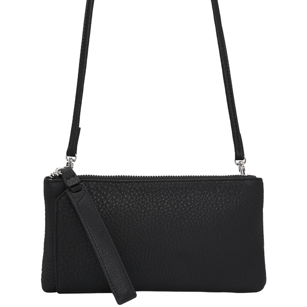 KIRA WALLET CROSSBODY CLUTCH - BLACK