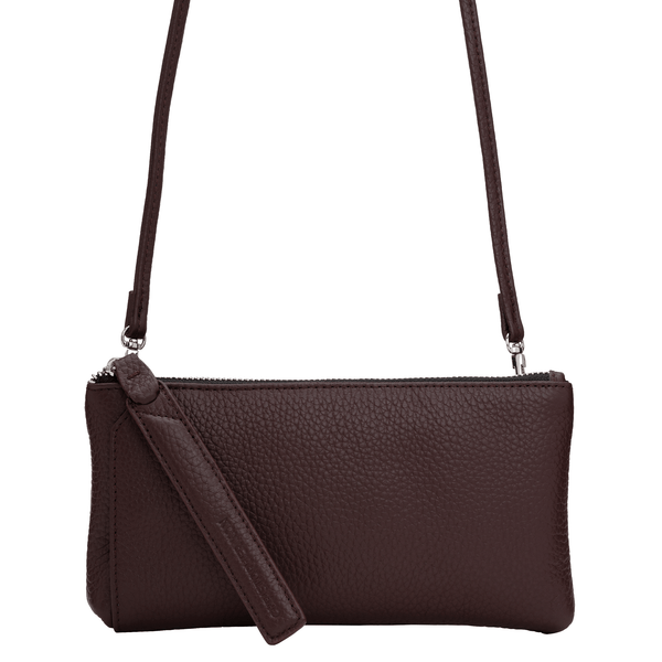KIRA WALLET CROSSBODY CLUTCH - CHOCOLATE